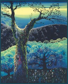 """Orchard in Bloom,"" Eyvind Earle."