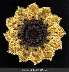 Sunflower - free crochet pattern
