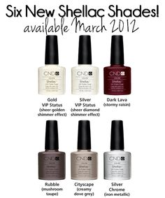 CND Shellac's 2012 Spring collection