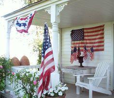 flag, patriot porch