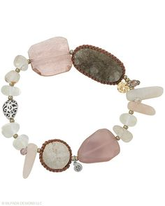 Powdery #pinks and smoky stones create a soft yet edgy look. #Drusy, #Quartz, #Crystal, #Glass, #Cubic #Zirconia, #Pyrite, #Sterling #Silver. #Silpada #Jewelry