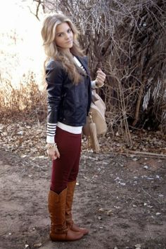 Leather Jacket and Long Boots... HotwomensClothes.com