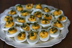 Miso-Sriracha Deviled Eggs #recipe