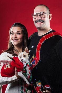Family pic - vooral het hondje heeft een schitterende trui aan :)
