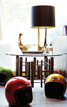 Helmuts make for decorative designs // Brent Bolthouse