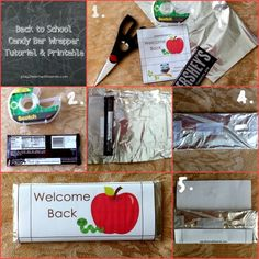 Back to School Candy Bar Wrapper Tutorial