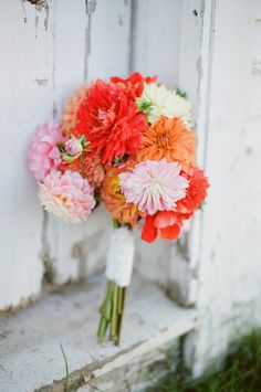 """All bouquets prompt happiness. This one just seems like a really """"happy bouquet""""! Photography by meredithperdue.com, Floral Design by endlesssummerflowerfarm.com"""