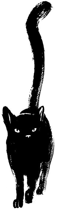 I have no idea if this is a drawing or a rubber stamp or what, but I love how much personality this cat has -- guminudli:
