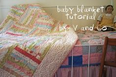 Baby BlanketTutorial on the Moda Bake Shop. http://www.modabakeshop.com