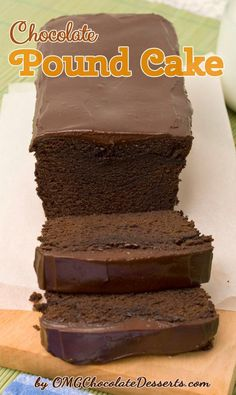 Chocolate Pound Cake-oooooohhh looks really good
