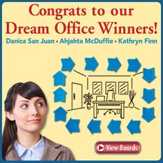 Congrats to our 3 #DreamOffice Winners