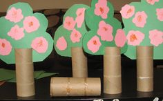 Friends Forever Book + Activity. Tp roll trees, Flip the tree tops based on the Season