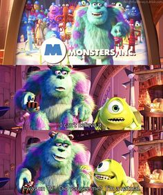 Monsters, Inc // Love this part!
