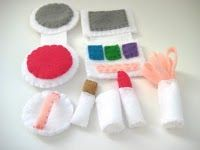 Felt make-up! Great for the kid that wants to play in mommy's.
