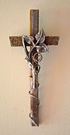 """Hope in Tomorrow"", a cross made from recycled by CrossesByCatherine, $82.00"