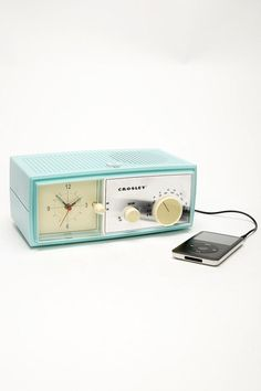 Aqua Crosley ipod dock radio #retro