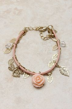 This would be perfect for my Annabelle Rose!!! Blush Shimmering Rose Charm Bracelet   Emma Stine Jewelry Set