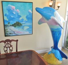 Desdemonda dolphin by artist Bill Renc is at it's sponsor's office:  Clearwater Harbor Realty, 825 Court Street, Clearwater.