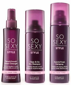 VS So Sexy hair products!