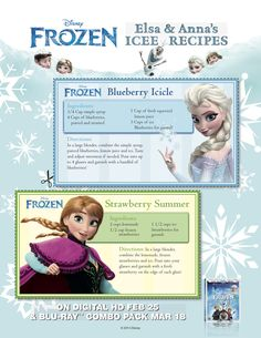 Elsa & Anna's Icee Recipes