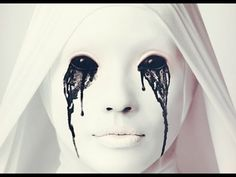 How to do crying nun makeup from American Horror Story
