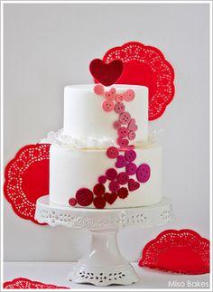gorgeous cute as a button cake