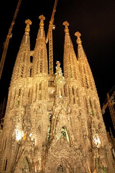 The Nativity Facade, Sagrada Familia, Barcelona, Spain