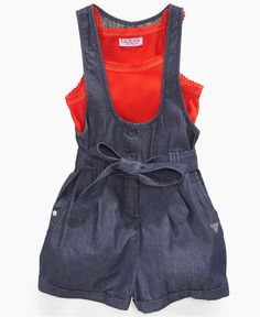 Love this romper! Guess Kids Romper, Little Girls Tank and Romper - Macy's $29.99