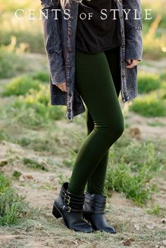 Leggings and boots - fall style at its best