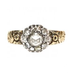 Larchmont is a fantastic antique ring from the Victorian era featuring Rose Cut diamonds. TrumpetandHorn.com // $2,950