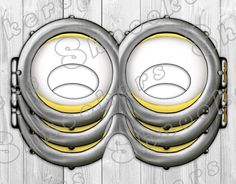 Despicable Me 2 - Inspired Printable Minion Goggles Party Mask (Instant Download) on Etsy, $4.00
