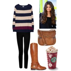 Cozy Winter/Fall Outfit 2013 with A Starbucks Treat!