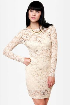 bodycon dress, cloth, style, beig dress, bed sheet, fabul lace, rehearsal dinner dresses, beig lace, lace dresses
