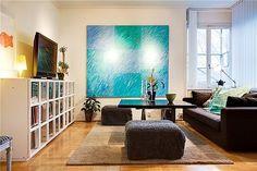 Apartment Artistic Interior Decorations Turquoise - vuerydesign.com