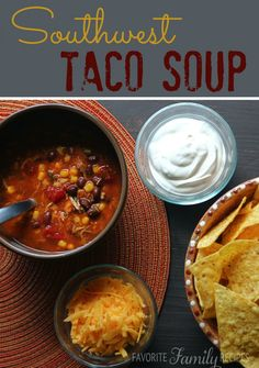 This is by far my favorite taco soup recipe, it has so much flavor!