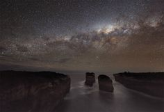 A long-exposure photo of the Australian coast