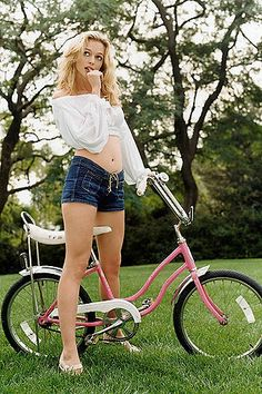 Heather Graham sayings, bicycles, girl, bike, heather graham, lorenzo agius, pink, heathergraham, graham pictur