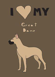 Great Dane #print #decor