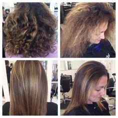 Keratin Complex Treatment (before and after) Hairstylist: Monalisa Jeffreys/G Patton Salon Norfolk, VA
