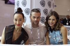 (L-R) NIKITA's triple threat: Maggie Q, Shane West and Lyndsy Fonseca at the show's final signing in the Warner Bros. booth #CWSDCC #WBSDCC (©2013 WBEI. All Rights Reserved.)