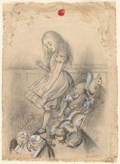 Studies for illustrations to Alice's adventures in wonderland, 1864              • Sir John Tenniel