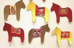Chinese New Year 2014 Money Envelope Horses - Kids Craft Idea