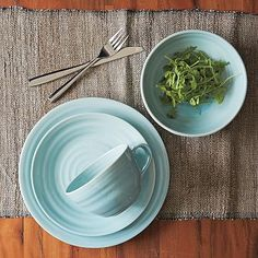 Crafted Dinnerware - Ice Blue #westelm