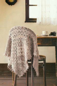 Crochet Shawl chart / diagram / pattern