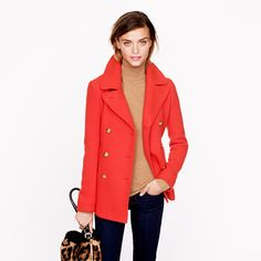 My fav coat is back in fun new colors!! J.Crew+-+Tall+majesty+peacoat
