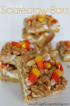 Heavenly Scarecrow Bars are the perfect fall and Halloween treat!