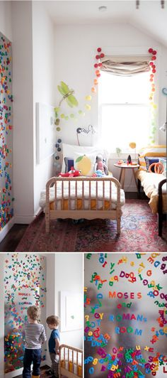 Kids Room: magnet wall