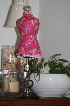 Dressmaker Form Pin Cushion Mannequin GROOVY by sherimusum on Etsy, $25.00