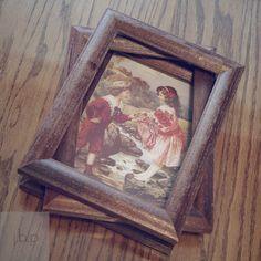 diy frame, sand, vintag frame, vintage frames, wood frame