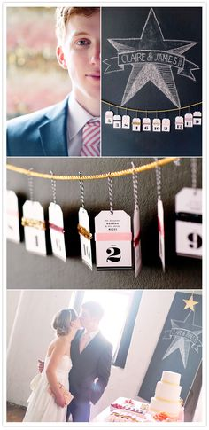 Creative idea for table place cards